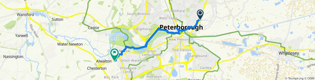 Steady ride in Peterborough