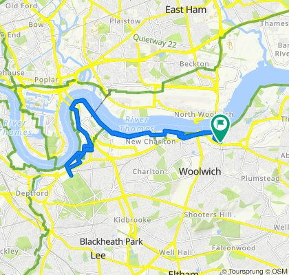 Woolwich Riverside to Greenwich Park