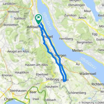 Restful route in Kilchberg ZH