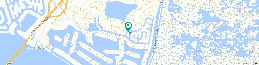 633 Lakeshore Village Dr, Slidell to 629 Lakeshore Village Dr, Slidell