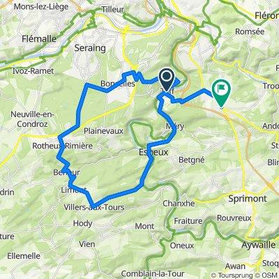 Tilff - Villers-aux-Tours - Neupré - Sart-Tilman