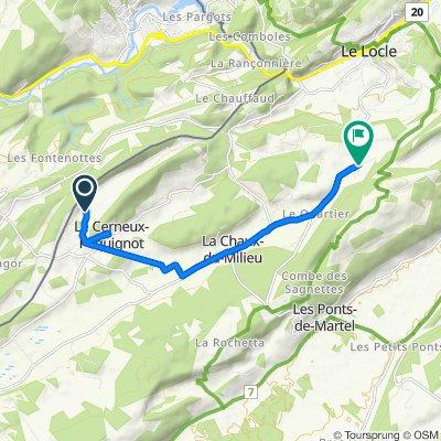 Route stable en Le Locle