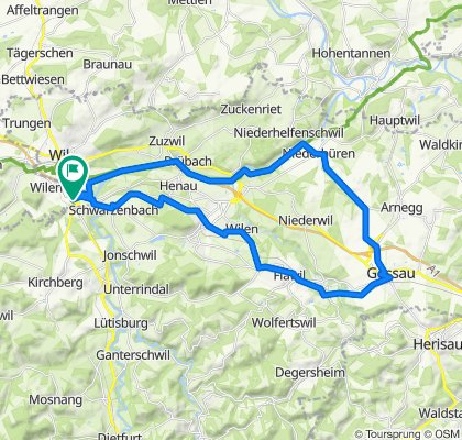 Moderate Route in Rickenbach b. Wil