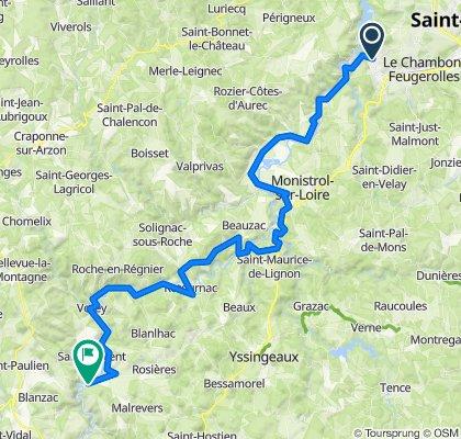 bron Loire dag 4 La voute sur loire 77 km