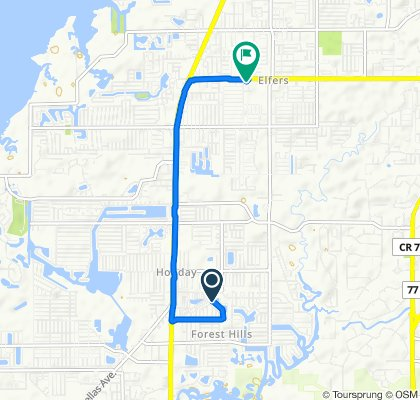 Sporty route in New Port Richey