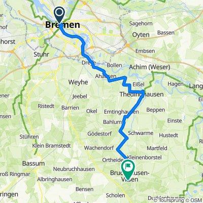 Fernradweg Bremen-Bruchhausen Vilsen