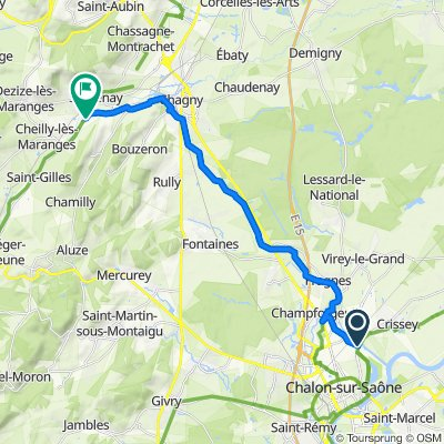De D5 1, Chalon-sur-Saône à Route de Corchanu 7, Santenay