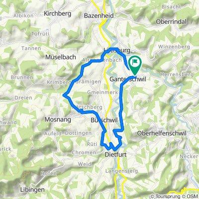 Entspannende Route in Ganterschwil