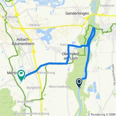 Gemütliche Route in Mertingen