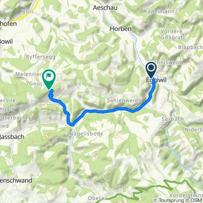 Dorf 515, Eggiwil nach Röthenbach i.E., Chuderhüsi, Röthenbach im Emmental