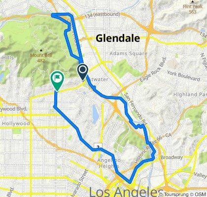 4313–4321 Crystal Springs Dr, Los Angeles to 4635 Los Feliz Blvd, Los Angeles