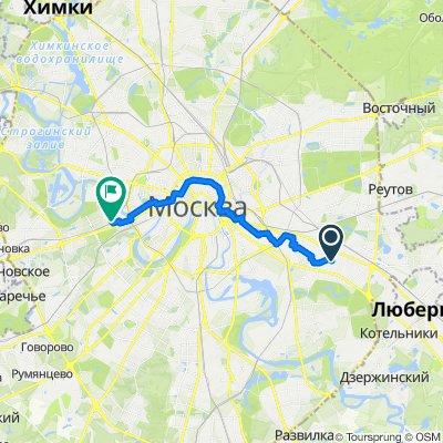От 4-я Новокузьминская улица 11, Москва до Неверовского улица 10с3, Москва