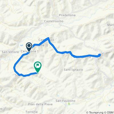 Moderate route in Cingoli