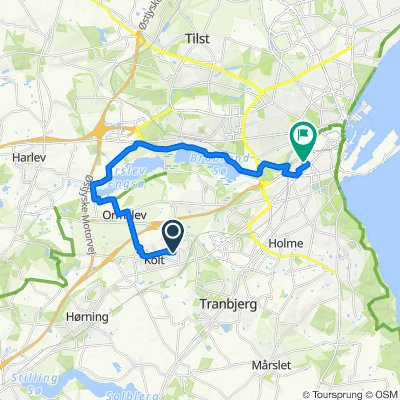 Route from Hasseltoften 38, Hasselager
