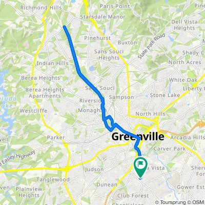 Moderate route in Greenville