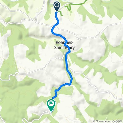 Einfache Fahrt in Roannes-Saint-Mary