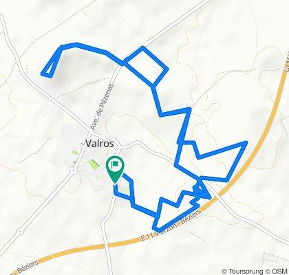 Itinéraire modéré en Valros