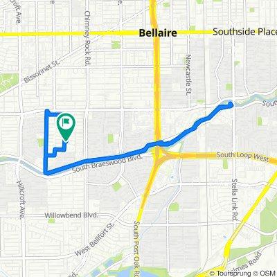 5435 Ariel St, Houston to 5435 Ariel St, Houston