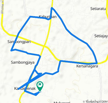 Jalan Manggis 96, Kecamatan Kawalu to Jalan Anggur No.181, Kecamatan Kawalu