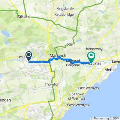 Minto Place, Glenrothes to Milton Road, Leven