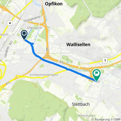 Itinéraire reposant en Glattpark