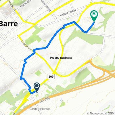 Restful route in Wilkes Barre