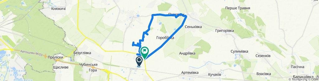 От вулиця Поповича 10a, Бориспіль до Т1004