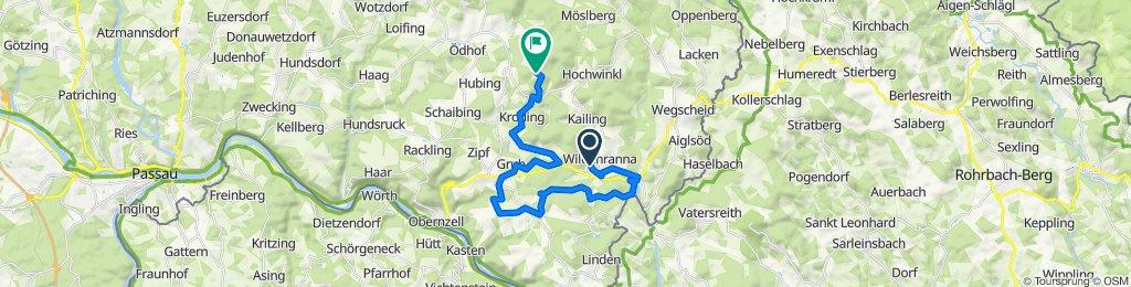 Gemütliche Route in Untergriesbach