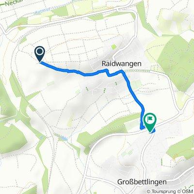 Gemütliche Route in Großbettlingen