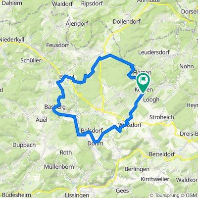 Überschallgeschwindigkeitsfahrt in Kerpen (Eifel)