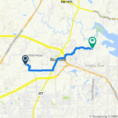 4405–4411 Wilderness Pass, Fort Worth to 2904 Nottingham Dr, Trophy Club