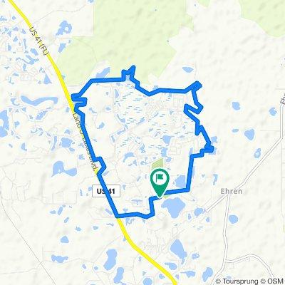 Wilderness Lake Blvd, Land O Lakes to 21218 Quiet Haven Ct, Land O Lakes