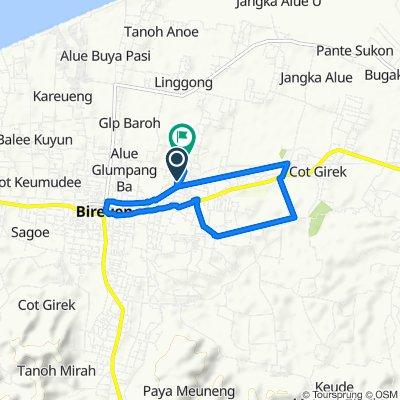 Jalan Geulanggang Baro, Kota Juang to Geulanggang Kulam, Kota Juang