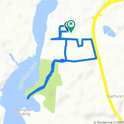 Restful route in Denton