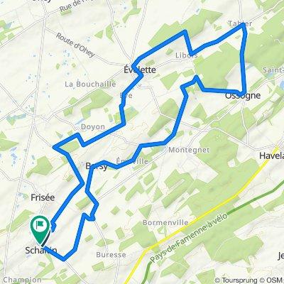 30,4 km vélo