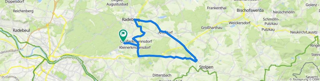 Tanzzipfelweg 2, Radeberg nach Tanzzipfelweg 3, Radeberg