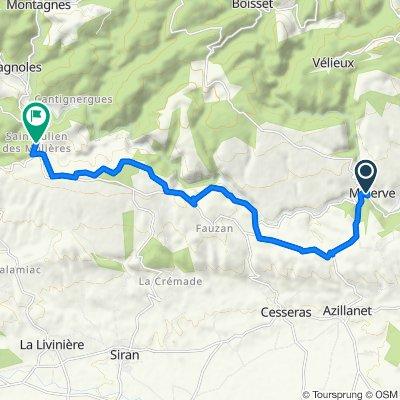 Etape 17 – De Minerve à Saint-Julien-des-Meulières - Itinéraire Sud