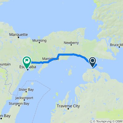 Mackinaw City to Escanaba