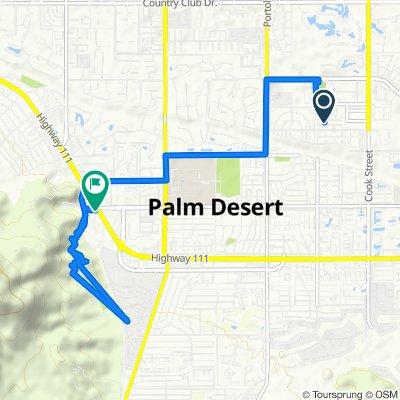 Route from Verdin Lane 42218, Palm Desert