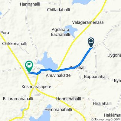 Unnamed Road, Kodihalli to Unnamed Road, Krishnarajpete