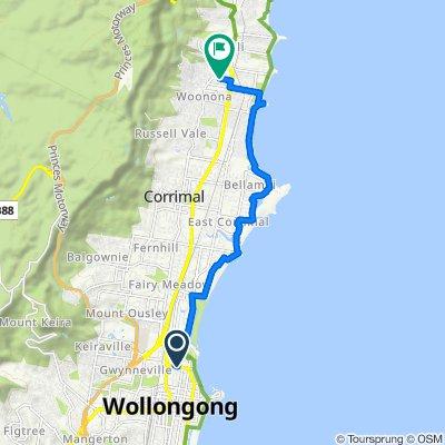 Restful route in Woonona