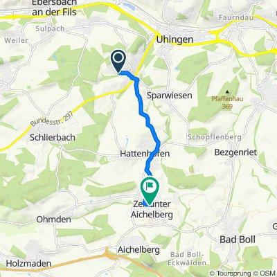 Ebersbacher Straße 42, Albershausen nach Schulstraße 15, Zell unter Aichelberg