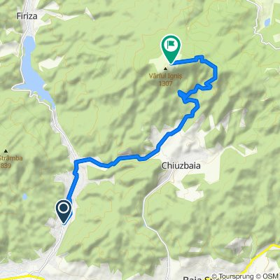 Route from Strada Barajului 92–102, Baia Mare