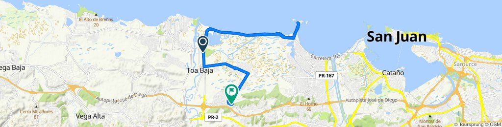 Moderate route in Toa Baja