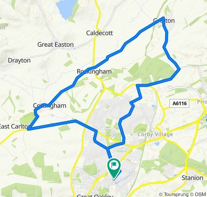Corby - Gretton - Rockingham - Cottingham - Corby