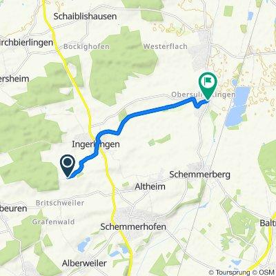 Gemütliche Route in Laupheim