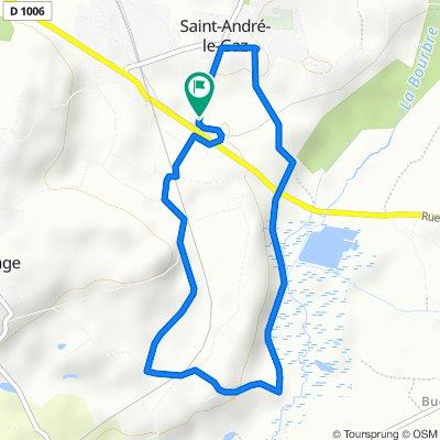 Itinéraire reposant en Saint-André-le-Gaz