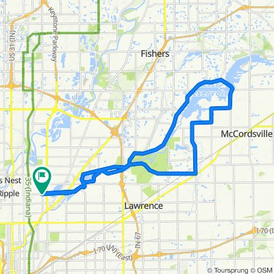 Around Geist, short 30 miles