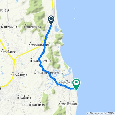 Route from Soi Hua Hin 103, Hua Hin