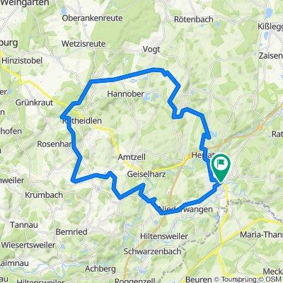 Wangen - Waldburg - Bodnegg - Haslach - Wangen